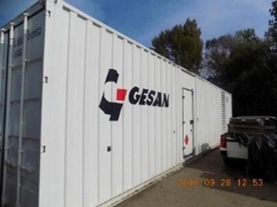 Gesan 2MW üzembiztos konténeres dízel aggregátor