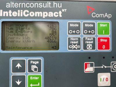 Használt FOGO készenléti aggregátor IVECO Diesel 80kVA ComAp vezérlés