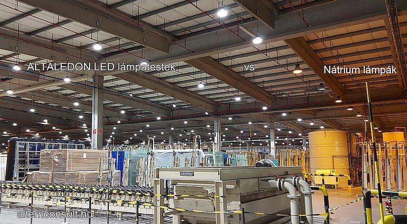 ALTALEDON industrial LED lights at Guardian Glass Orosháza, Hungary